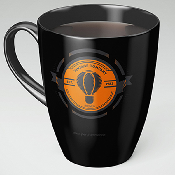 Logo auf Tasse